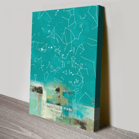 Abstract Design Star Map Custom Canvas Art