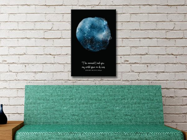Romantic Custom Star Map Wall Art Online