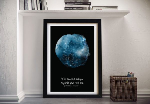 You Make My World Spin Framed Star Map