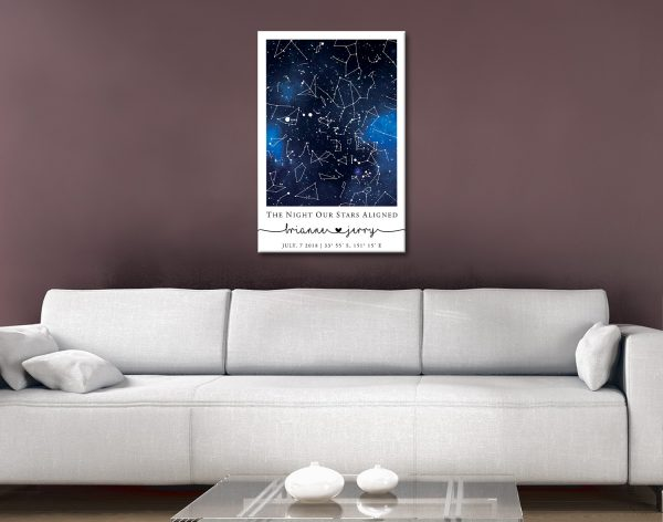 Ready to Hang Blue Galaxy Custom Star Map