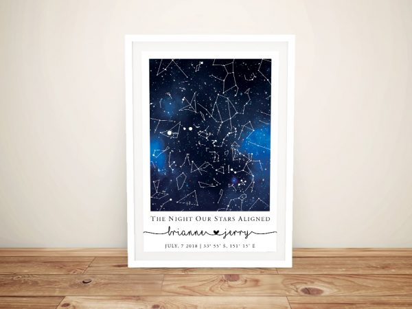 Blue Galaxy Star Map Unique Home Decor AU