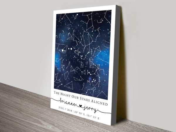 Buy a Bespoke Blue Galaxy Star Chart