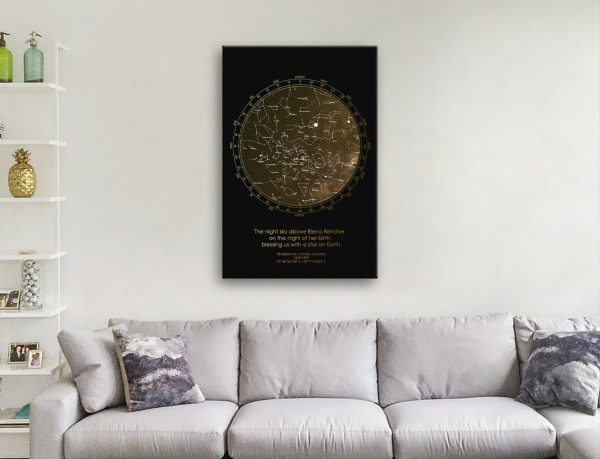 Affordable Bronze Star Map Art Cheap Gifts AU