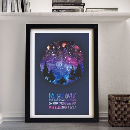 Northern Lights Bespoke Star Map Art on Canvas