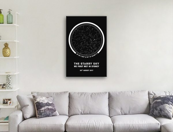 Star Map Bespoke Wall Art Online Gallery Sale