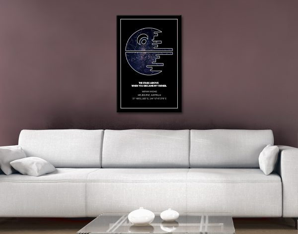Ready to Hang Death Star Star Map Artwork
