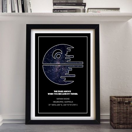 Star Wars Death Star Canvas Star Map Wall Art