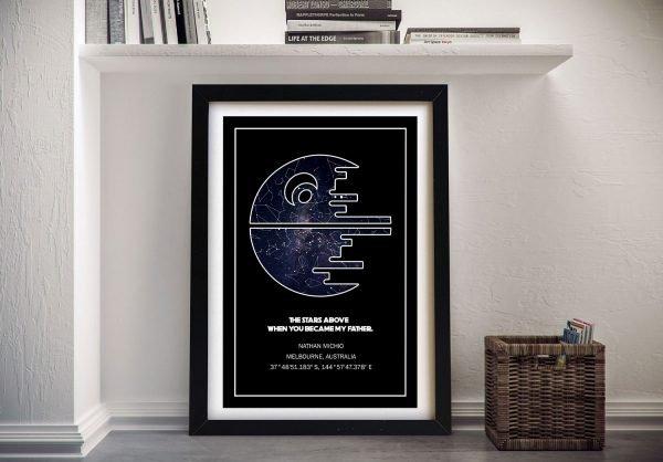 Star Wars Death Star Canvas Star Map Wall Art