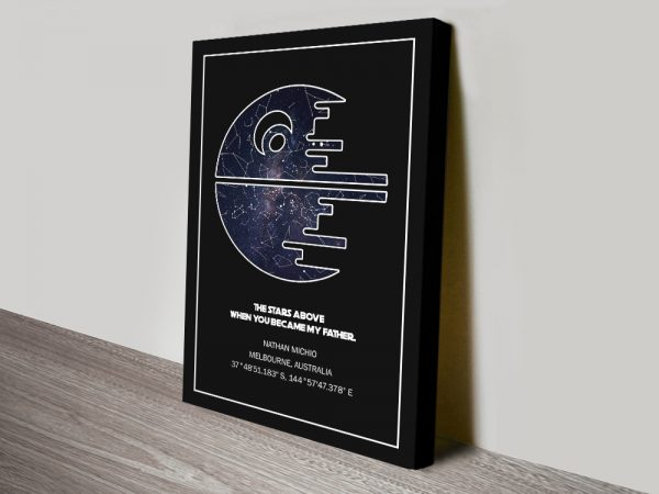 Star Wars Death Star Bespoke Art Gifts for Guys AU