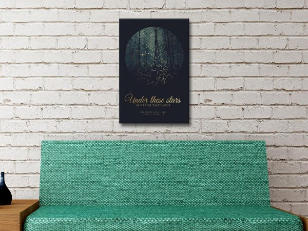 Ready to Hang Forest Star Map for Sale Online