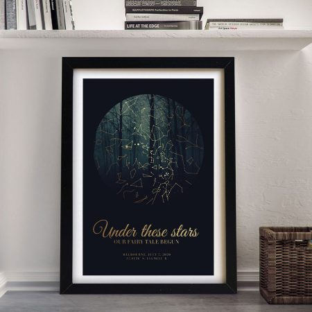 Forest Design Personalised Star Map Art