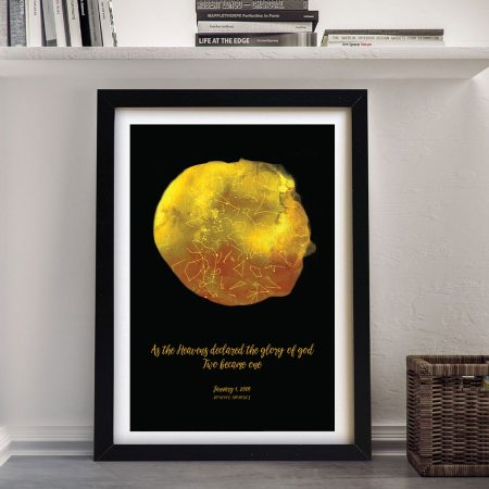 Buy a Gold Framed Custom Star Map
