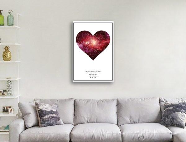 Bespoke Star Maps Valentines Gifts Online