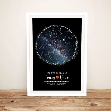 Bespoke Scribble Design Canvas Star Map Art