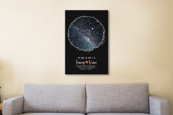 Scribble Star Map Personalised Art for Sale