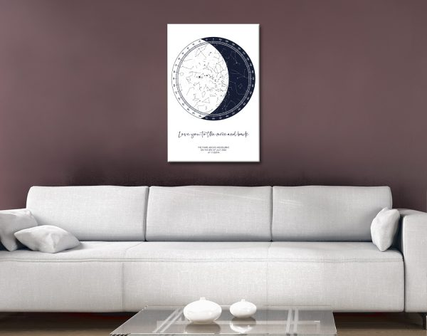 Personalised Moon Star Chart Romantic Gifts AU