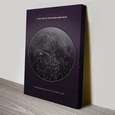 Moon Star Map Personalised Artwork