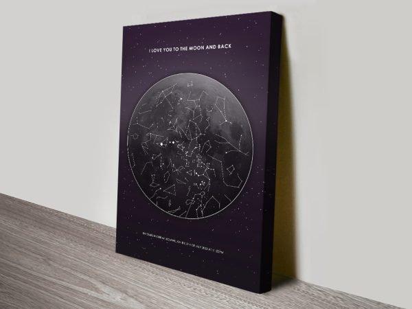 Moon Star Map Personalised Artwork
