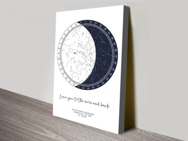 Moon Star Map Bespoke Gifts for Sale Online