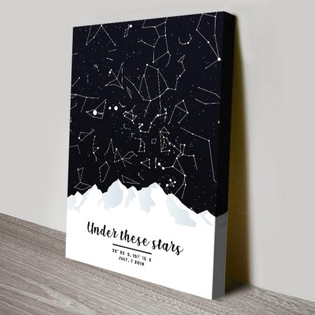 Magical Mountain Star Map Wall Art