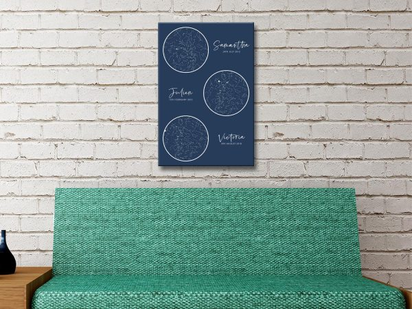 Gift Ideas for New Parents Custom Star Maps