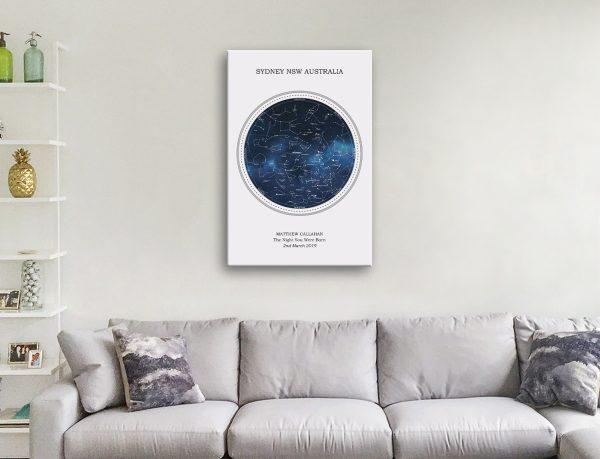 Gorgeous Custom Star Chart Wall Art for Sale