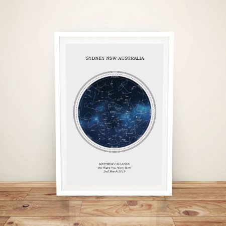 Star Chart Custom Wall Art on Canvas