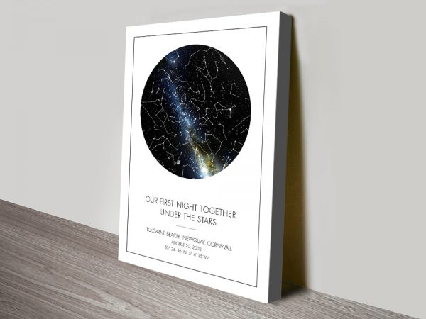 Under the Stars Affordable Custom Star Map