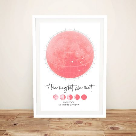 Buy a Phases of the Moon Bespoke Star Map