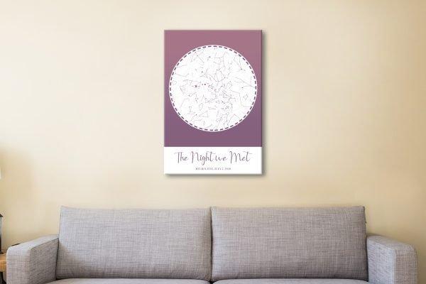 Purple Star Map Unique Gift Ideas Online