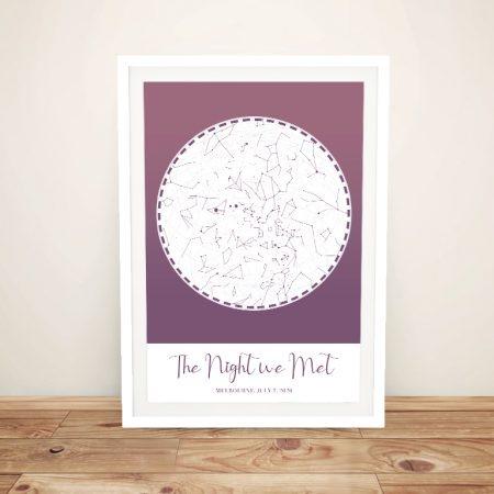 Buy a Custom Purple Star Map Canvas Print