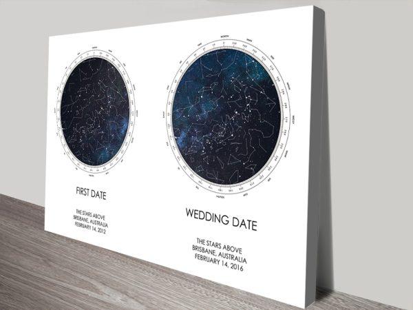 Ready to Hang Dual Stars Bespoke Star Map