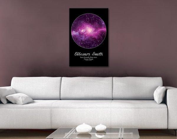Purple Star Map Treasured Gift Ideas AU