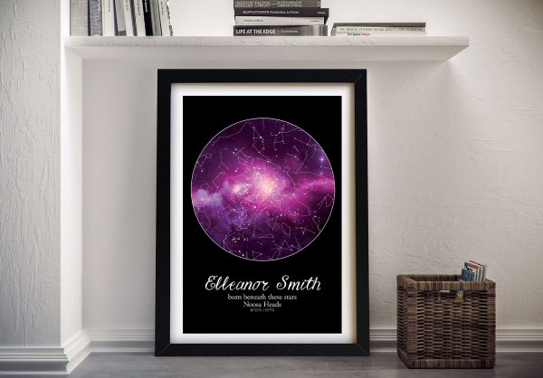 Framed Cosmos Star Map Romantic Gifts AU