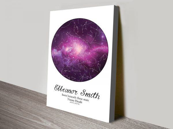 Stunning Cosmos Star Map Personalised Wall Art