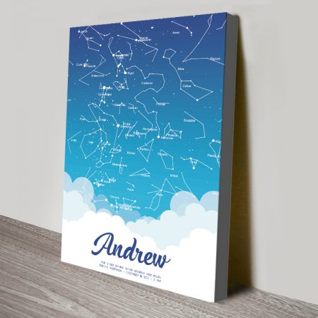 Buy a Borderless Baby Blue Custom Star Map