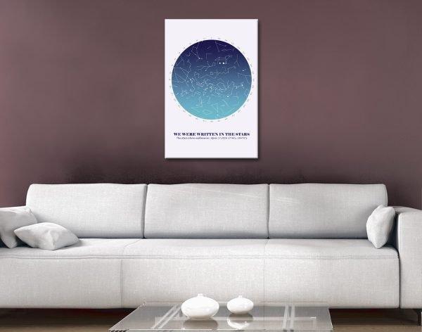 Detailed Custom Star Map Romantic Gift Ideas