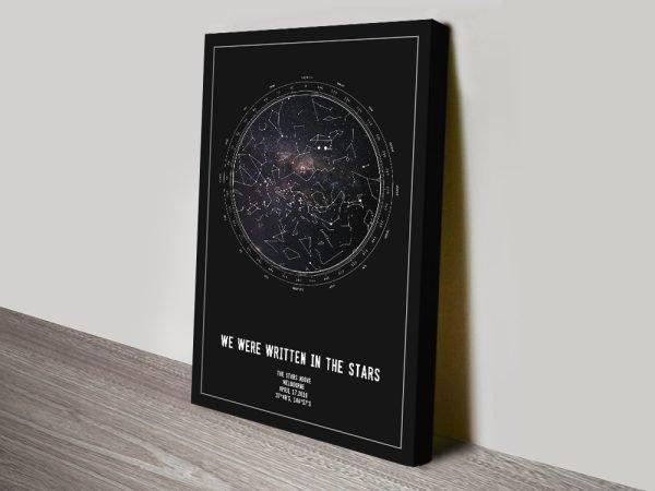 Written in the Stars Custom Star Map Art