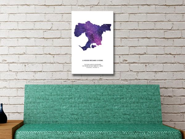 Melbourne Silhouette Bespoke Star Map Gift Ideas AU