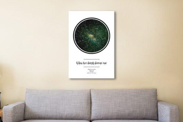 Bespoke Star Maps in a Range of Designs AU