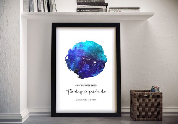 Buy a Colourful Watercolour Star Map