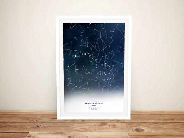 Under these Stars Framed Custom Wall Art
