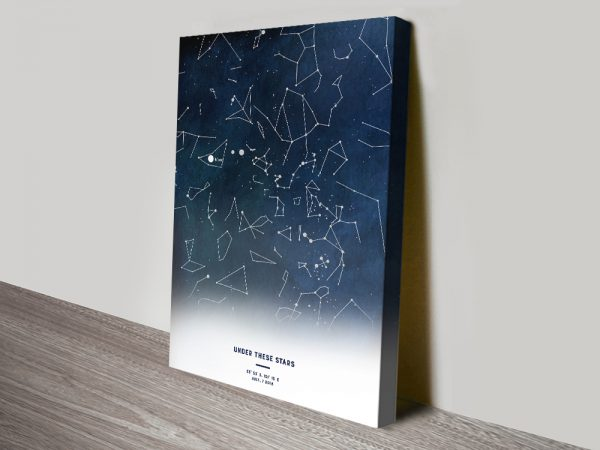 Personalised Star Map Quality Canvas Art