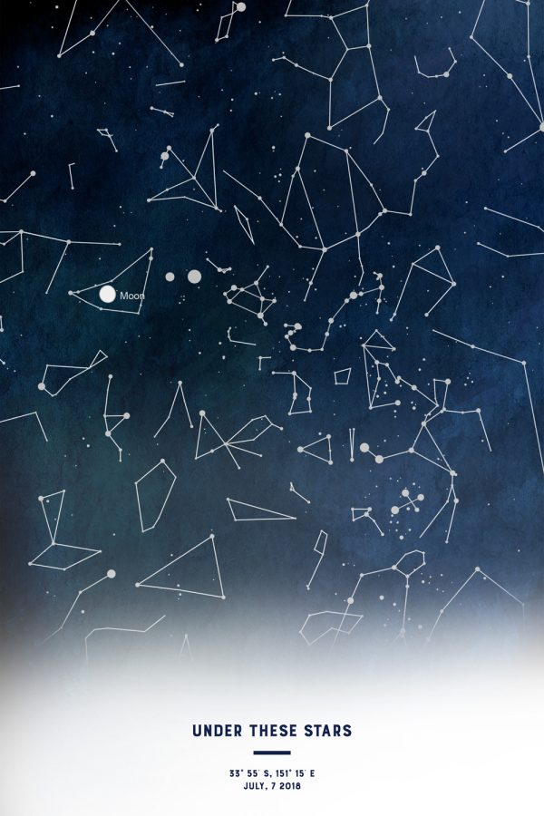 Personalised Star Map Artwork Australia