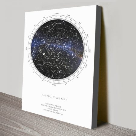 Custom Detailed Star Chart Wall Art