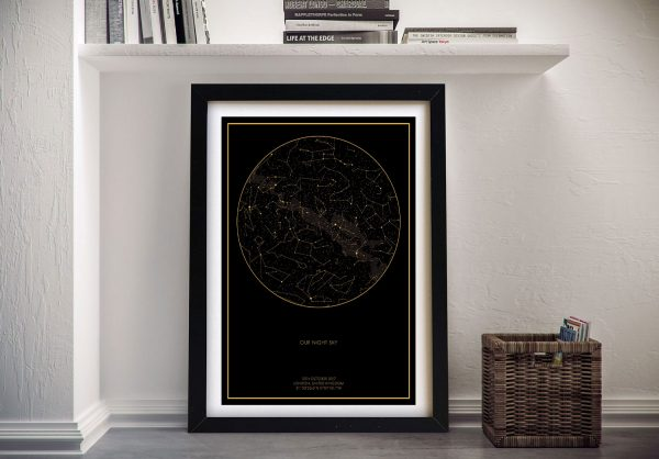 Buy Our Night Sky Personalised Star Map