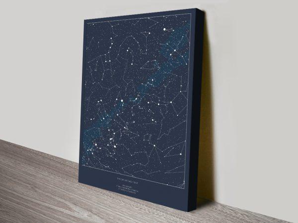 Borderless Bespoke Star Map Art Print