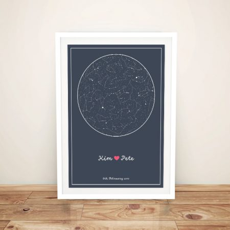 Bespoke Framed Star Chart Canvas Wall Art