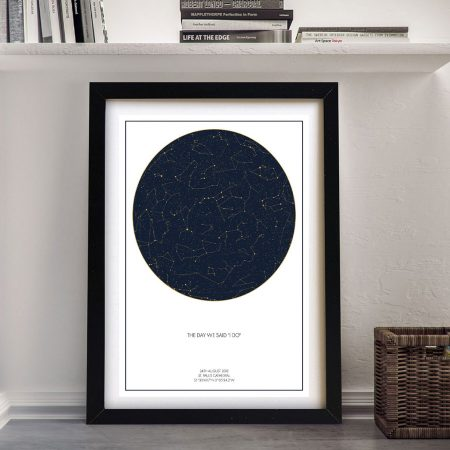 Framed Canvas Star Maps Personalised Art