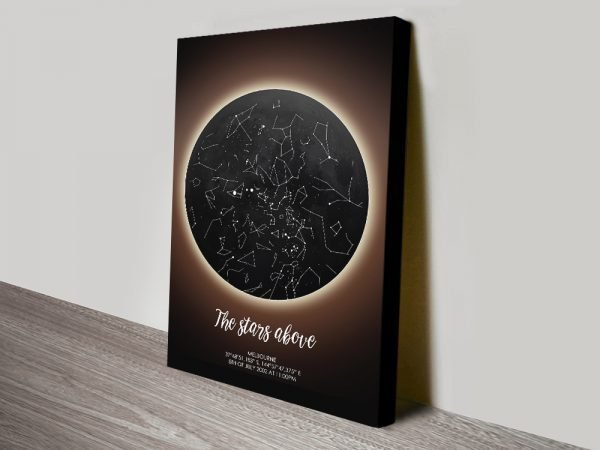Buy a Solar Eclipse Personalised Star Map